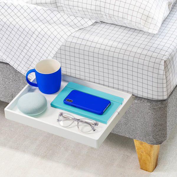 BedShelfie Slide - perfect for Flat Base Beds (Box Springs & Foundations) - BedShelfie