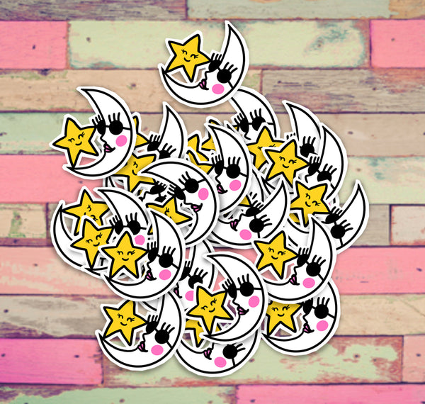 "4"" Moon and Star Sticker"