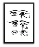 EYE OF HORUS ANIME PRINT
