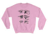EYE OF HORUS ANIME CREW NECK SWEATSHIRT