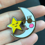 MOON & STAR ENAMEL PIN