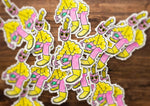 "PINK CAT 3"" VAHSHI STICKER"
