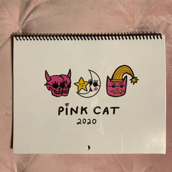 PINK CAT BEHIND EVERY UNICORN PRINT