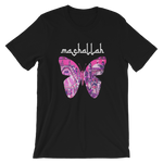 MASHALLAH BUTTERFLY BLACK TEE