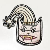 Pink Cat Embroidered Sew-On Patch