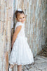 Girls' Soft Lace Baptism Dress