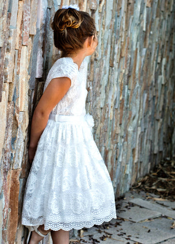 Girls' Soft Lace Easter Dress
