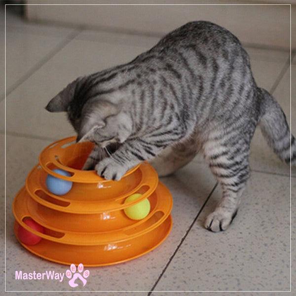 Cat Triple Play Disc Toy