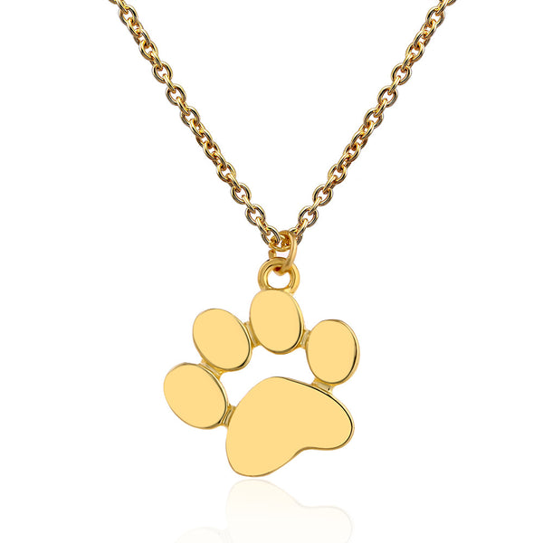 Handcrafted Cat lover Metal Paw Pendant Jewelry in Gold or Silver
