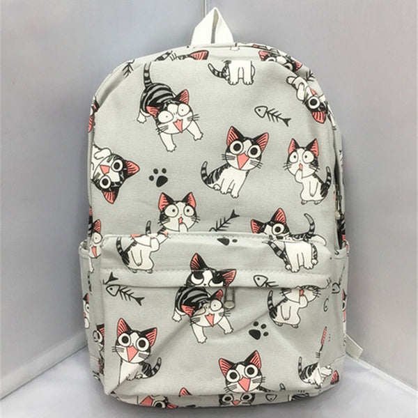 Cartoon Cat Backpack suitable for School or outdoors