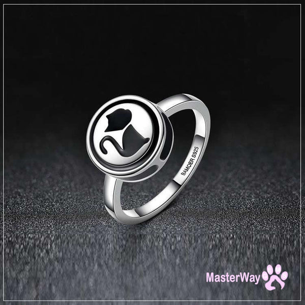 Sterling Silver 925 Cat Fashion Finger Ring