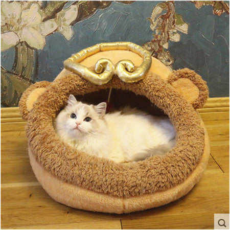 Comfortable and Washable Winter Warm Fleece Cat Bed for Best Sleep