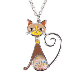 Cat Fashion Enamel Pendant Zinc Alloy Jewelry