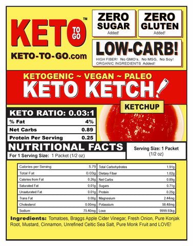 KETO KETCHUP DELIVERY NATION WIDE by KETO TO GO! Ketogenic Foods by KETO TO GO!