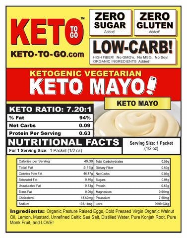 KETOGENIC MAYONAISE DELIVERY NATION WIDE by KETO TO GO! Ketogenic Foods by KETO TO GO!