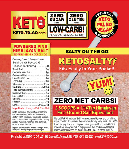 KETO SALTY ON-THE-GO Pouch by KETO TO GO