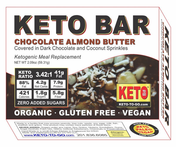 KETO MEAL BAR ~ Almond Coconut Keto Meal Bar - (Organic, Keto & Vegan!)
