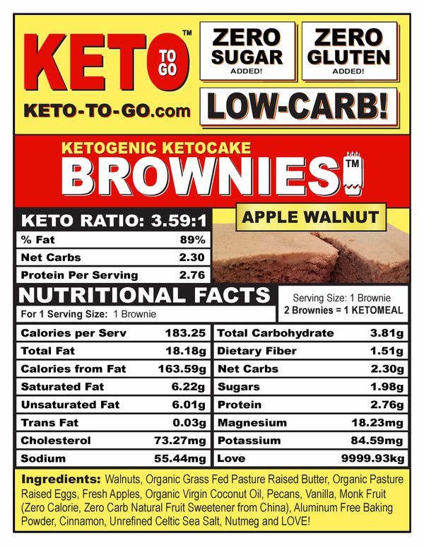 Apple Cake Keto Brownies - 6 Pak