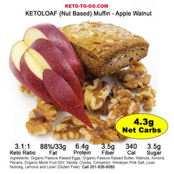 Apple Walnut KETO Muffin   5-Pak