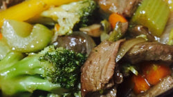 Beef Stew made from Filet Mignon Beef and Seasonal Chopped Low Carb Mixed Veggies