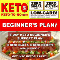 5-DAY KETO BEGINNERS SUPPORT PLAN (10 Keto Meals & 14 Keto Dessert-Meals)  12-18 Net Carbs Daily