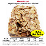 KETO BARS ~ Keto Cookie / Keto Bar - 4 Pak (Organic & Vegan!)
