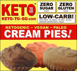 Organic Raw Keto Vegan Fat Bomb CREAM PIE TARTLETTS  Sampler - 8 Pak