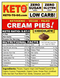 Organic Raw Keto Vegan Fat Bomb CREAM PIE TARTLETTS  - 5 Pak
