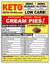 KETO CREAM PIE TARTLETTS  Sampler - 8 Pak (Organic, Raw, Low Carb & Vegan!) FAT BOMBS