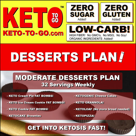 MODERATE DESSERTS PLAN (32 Servings weekly)