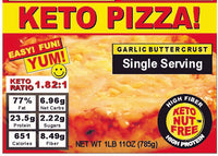 Butter Crust Keto Pizza - Single Serving Keto Meal  3-Pak