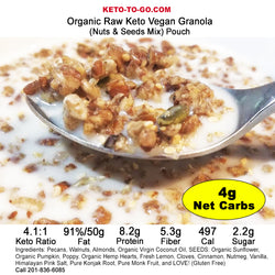 Keto Cereal - Keto Granola - (On-The-Go Packet) (Organic, Raw & Low Carb Vegan!)