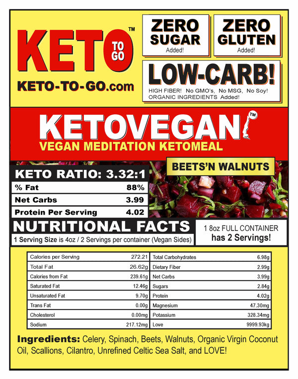 Keto Vegan Meditation - Beets'n Walnuts