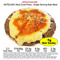 KETOLOAF (Nut) Crusted Keto Pizza -  Single Serving Keto Meal  3-Pak
