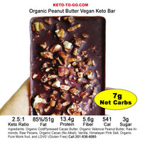 KETO MEAL BAR ~ Peanut Butter Keto Meal Bar - (Organic, Keto, Vegan!) Gluten Free