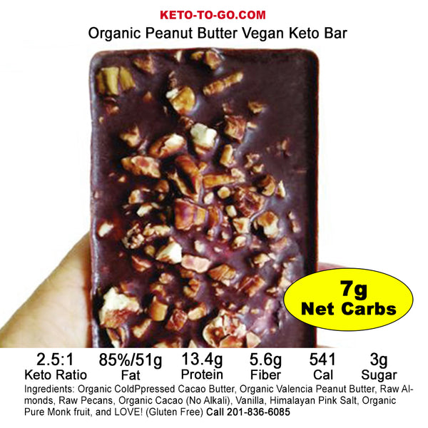 KETO MEAL BAR ~ Peanut Butter Keto Meal Bar - (Organic, Keto, Vegan!)