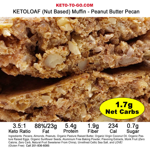 KETOLOAF (Nut Based) Muffins SAMPLER - 7-Pak (Sweet)