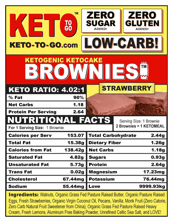 Strawberry Keto Brownies - 6-Pak