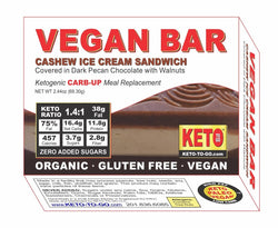 Vegan Meal Bar ~ Low Carb Cashew Ice-Cream Sandwich Keto Meal Bar - (Organic, Raw, Keto & Vegan!)