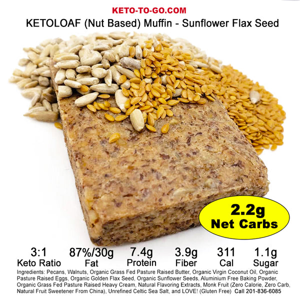 Sunflower Flax Seed  KETOLOAF Muffin - 2-Pak
