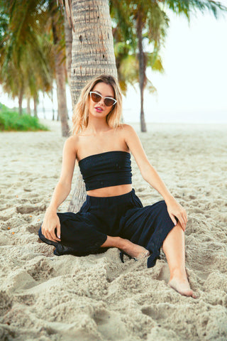 Blue Beach Maxi Skirt