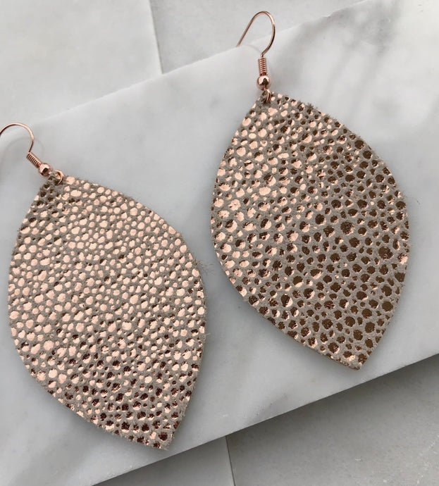 Rose Gold Speckled Andreana Earrings