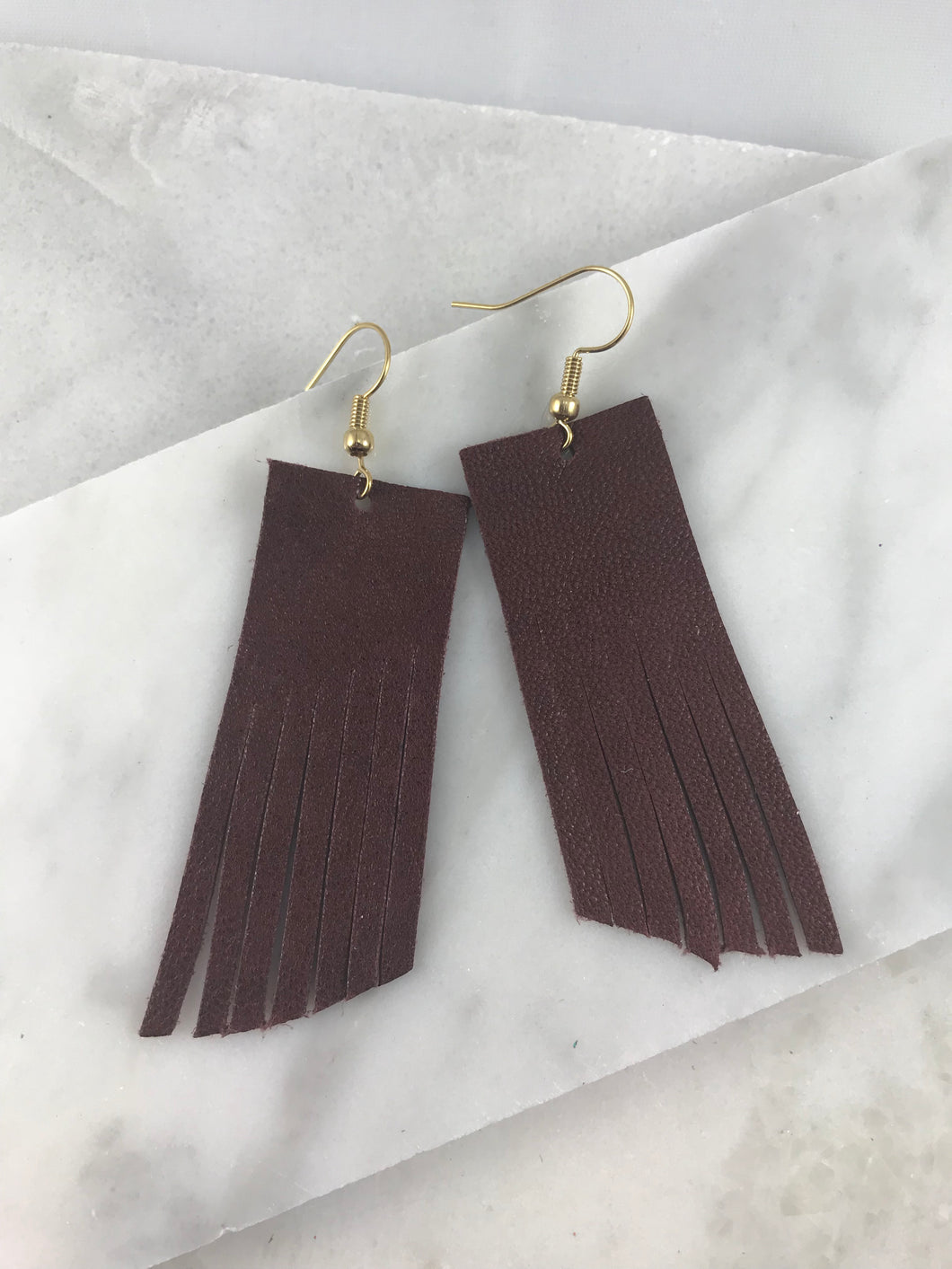 Penny Brown Fringe Earrings