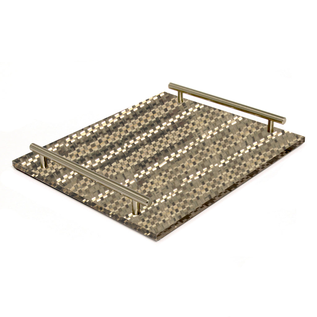 Champagne Weave Tray-W