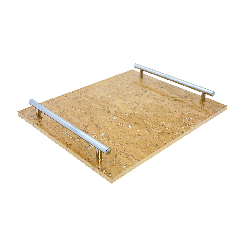 Cork/Silver Leaf-TKB305 Tray