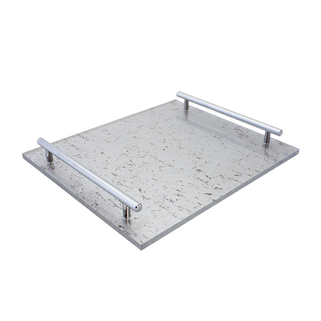 Pewter/Silver Leaf-TKB308 Tray