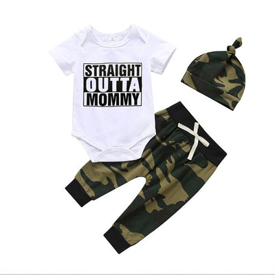 Straight Outta Mommy (3 pcs)