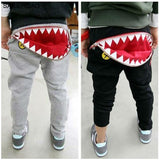 Trendy Zipper Shark Pants