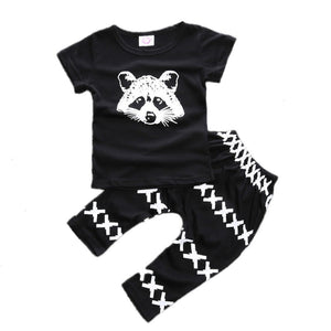 Raccoon Tee Set