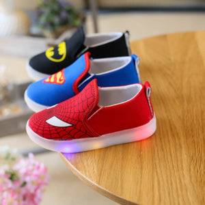 Glowing Superhero Shoes